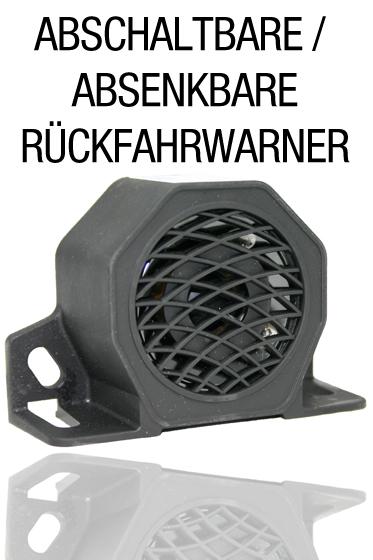 Abschaltbare / Absenkbare Rückfahrwarner